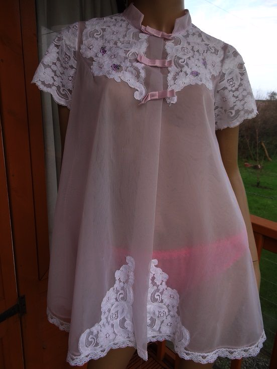 Vintage Shadowline Baby Doll Nightie Amp Negligee Set Size